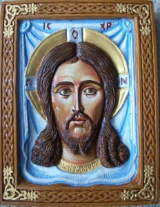 Holy Mandylion hand painted icon
