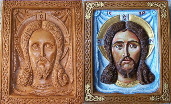 Holy Mandylion hand painted icon