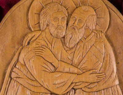 Saint Peter Embracing Saint Paul